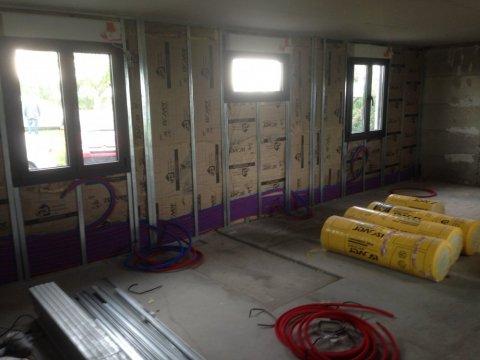 mise en place d'une isolation avec placo sur murs extérieurs Riom